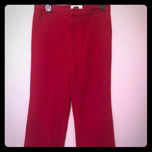 High-Waist Wide Leg Red Pants by The Gap Size 4